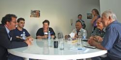 Chibli Mallat, Shakeeb Al Jabri, Khatoun Haidar, Georges Saad, Said Al Ghoz, Georges Aramouni; behind Tobias Peyerl, Emilie Sickinghe